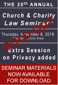 Carter 25th Church & Charity Law Seminar - Seminar Material